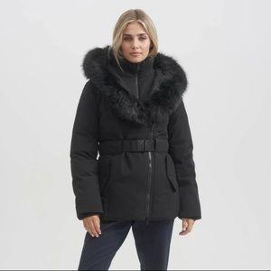 Toboggan 800 Fill Down/Feather Eva B II Hooded Belted Parka Black Medium